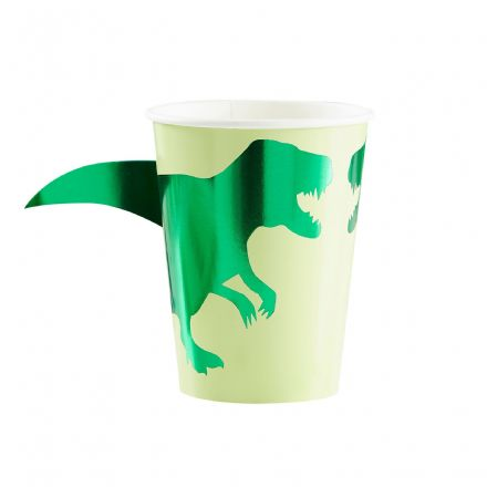 Green Dinosaur Paper Cups